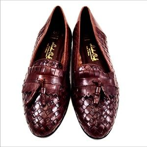 Brazil Womens Brown Woven Leather Loafer Size 8M
